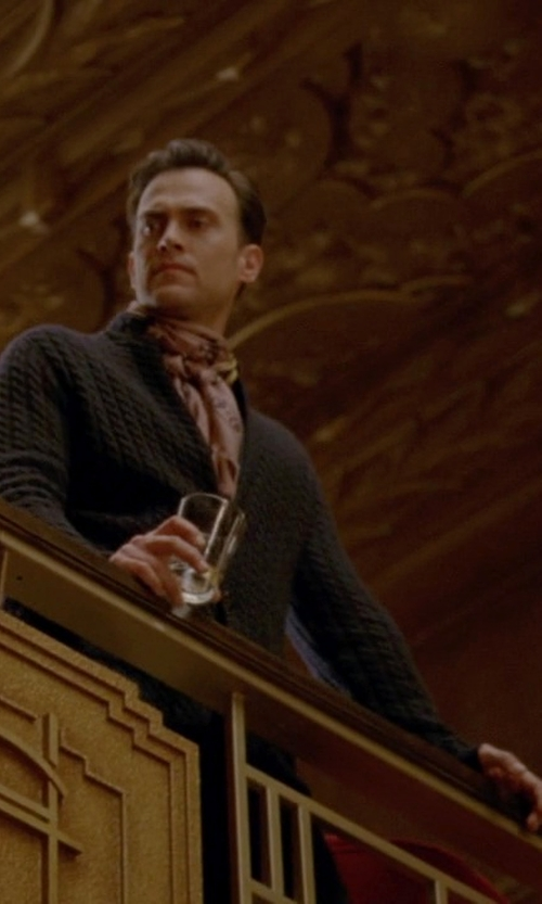 Cheyenne Jackson with Peregrine By J.G. Glover Shawl Collar Cardigan Sweater in American Horror Story
