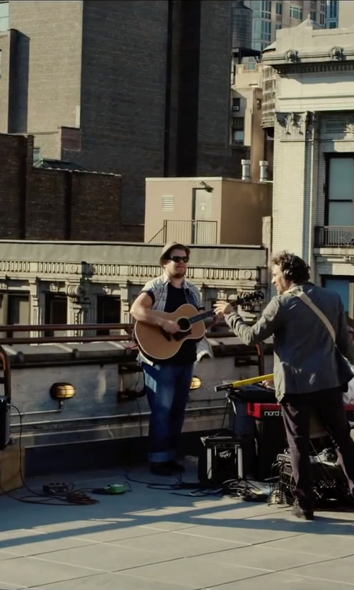 James Corden with Paul Smith Jeans Classic Fit Plaid Woven Shirt in Begin Again