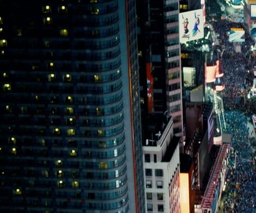 Unknown Actor with Bertelsmann Building New York City, New York in Survivor