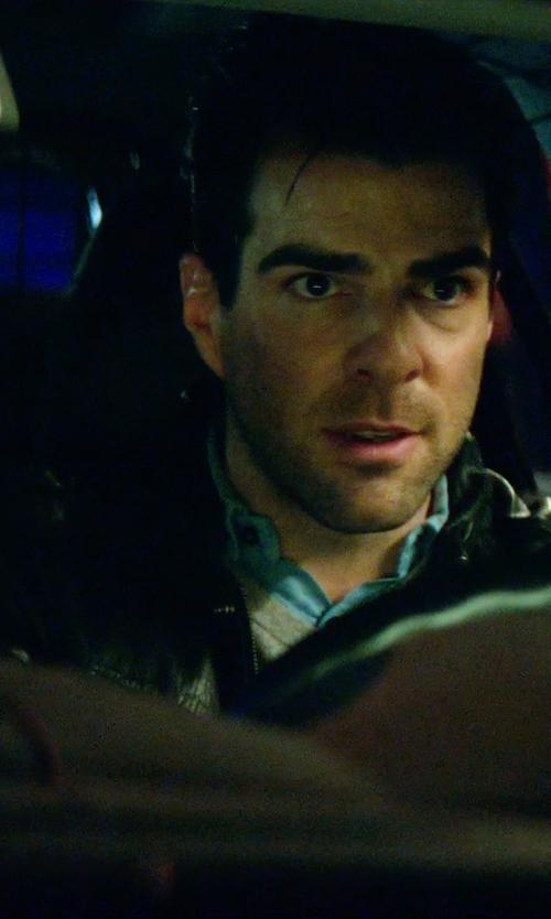 Zachary Quinto with Dockers Men's Birdseye Vest in Hitman: Agent 47