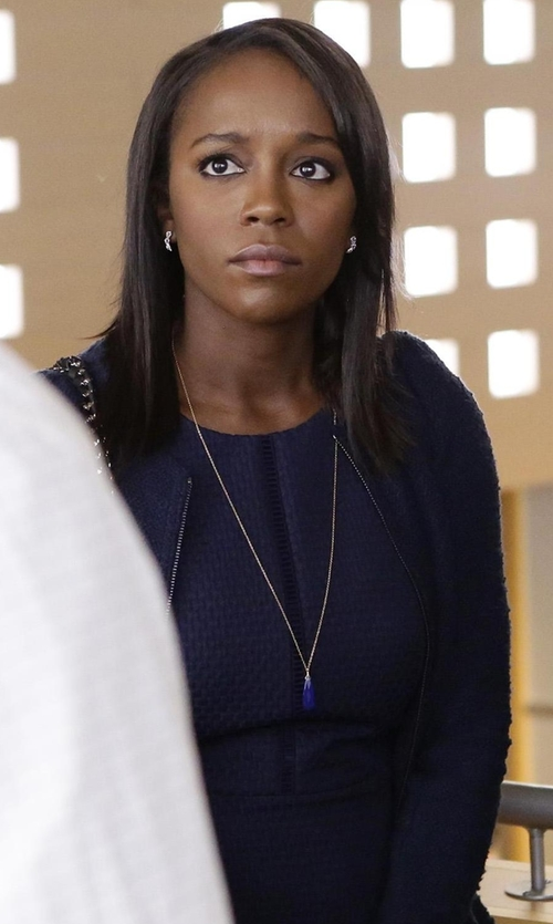 Aja Naomi King with J.Crew Portfolio Dress in How To Get Away With Murder