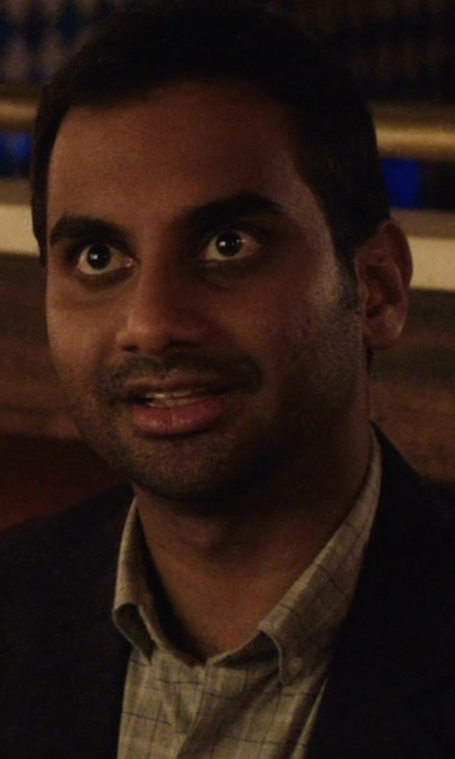 Aziz Ansari with Polo Ralph Lauren Multi-Check Dress Shirt in Master of None