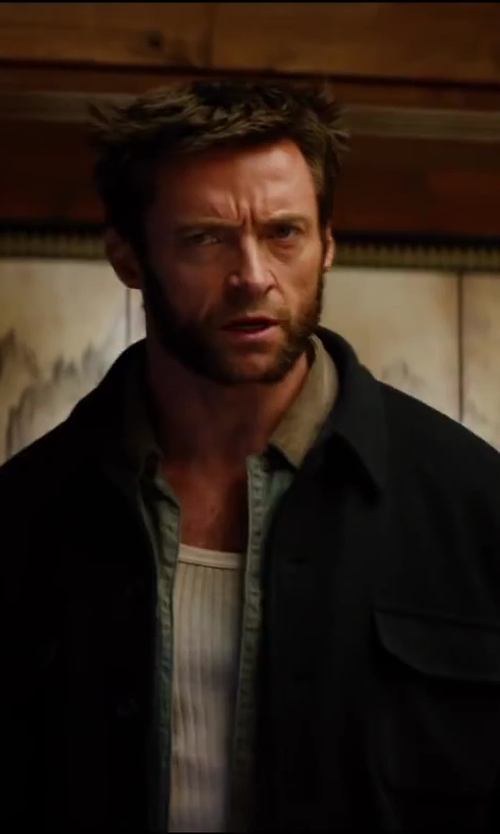 Hugh Jackman with Carhartt Men's Sandstone Duck Detroit Blanket Lined Jacket in The Wolverine