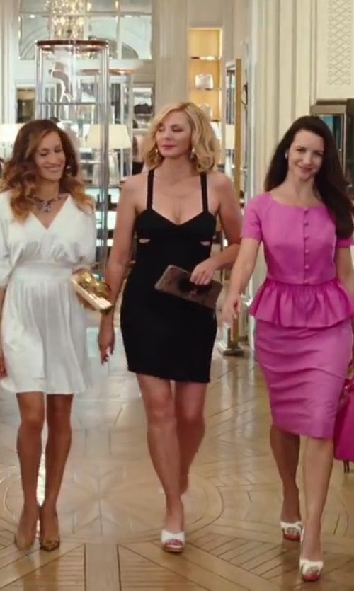 Kim Cattrall with VBH Python Palm Clutch Bag in Sex and the City 2