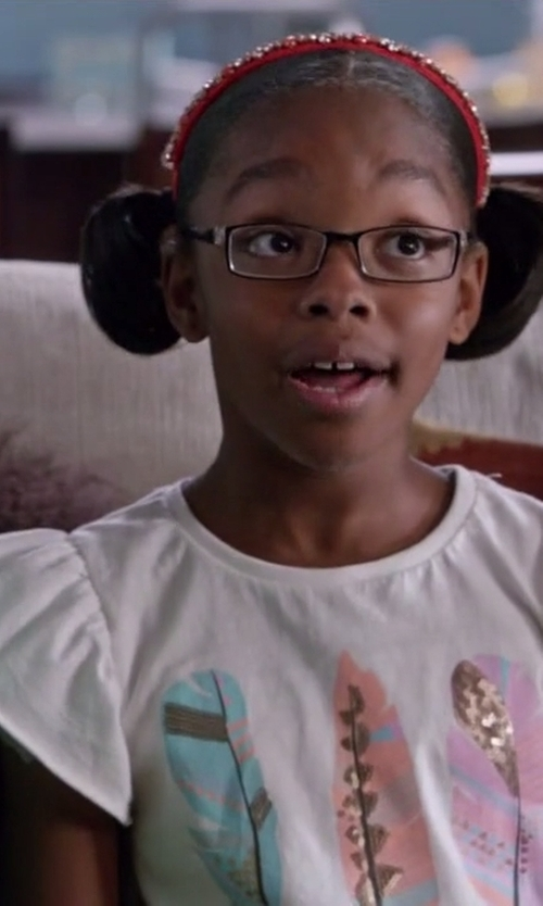 Marsai Martin with Billieblush Printed T-Shirt in Black-ish