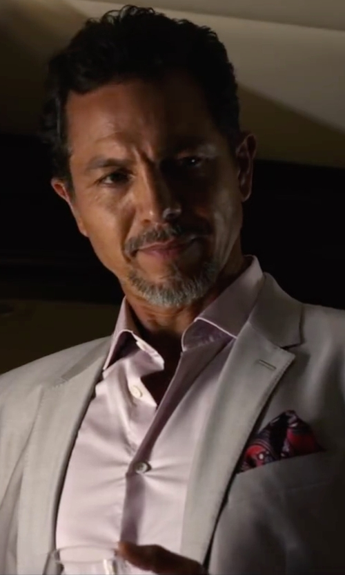 Benjamin Bratt with Brooks Brothers Slim-Fit Non-Iron Pinpoint Solid Dress Shirt in Ride Along 2