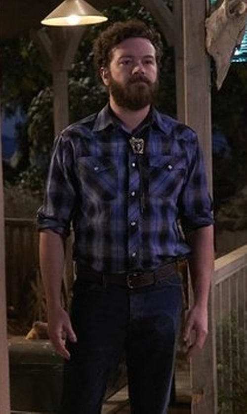 Danny Masterson with Tin Haul Plaid Tin Haul Collection Shirt in The Ranch