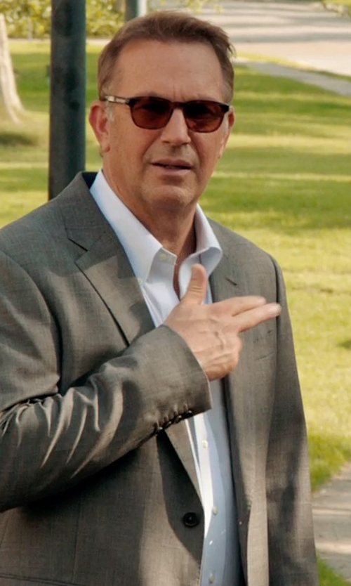 Kevin Costner with Gitman Button Down Dress Shirt in Black or White