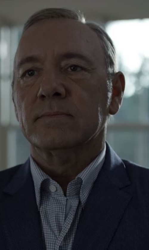 Kevin Spacey with Canali Two Piece Suit in House of Cards