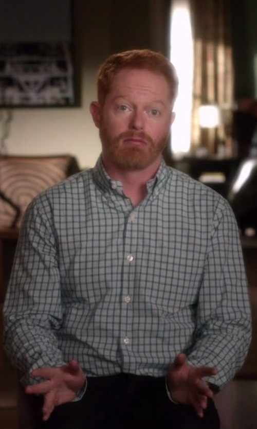 Jesse Tyler Ferguson with Tommy Hilfiger Easy Care Tonal Check Dress Shirt in Modern Family