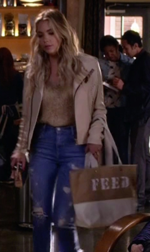 Ashley Benson with Feed High Tide Tote Bag in Pretty Little Liars