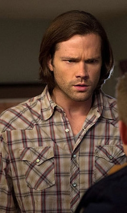 Jared Padalecki with Wolverine Men's Flame Resistant Plaid Twill Shirt in Supernatural