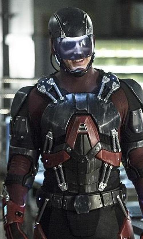 Brandon Routh with Maya Mani (Costume Designer) Custom Made 'Atom' Costume in Arrow