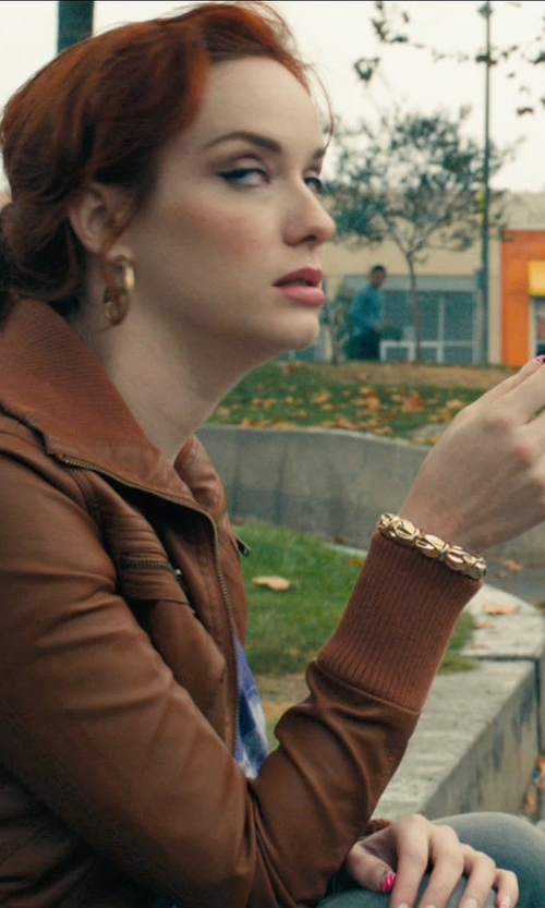 Christina Hendricks with Jose & Maria Barrera Gold-Plated & Druzy Beaded Bracelet in Drive