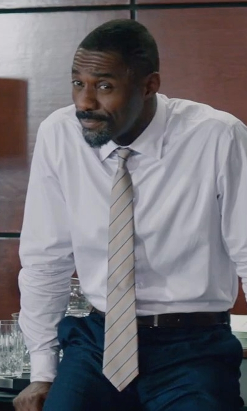 Idris Elba with Breuer Stripe Tie in Molly's Game