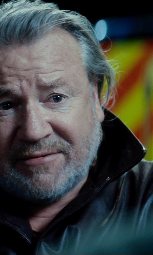 Ray Winstone with Cole Haan Smooth Lamb Car Coat in The Gunman