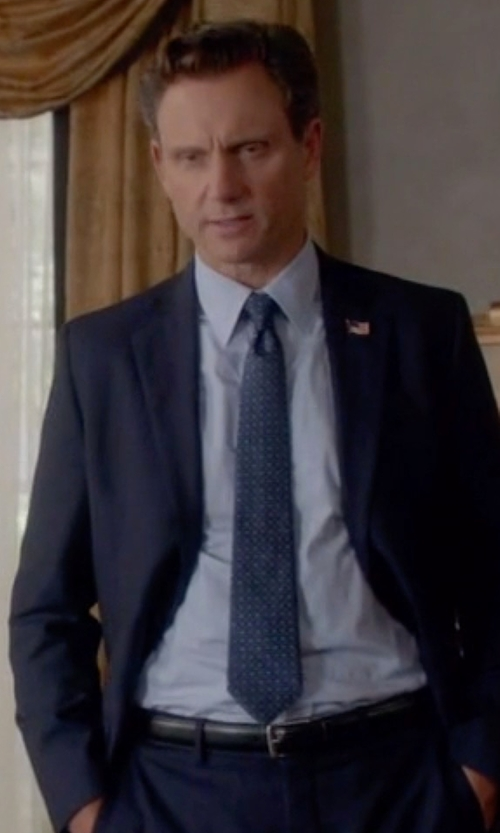 Tony Goldwyn with Eton	 Solid Fine-Twill Dress Shirt in Scandal