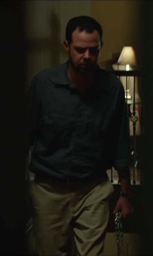 Rory Cochrane with Roundtree & Yorke Microfiber Easy-Care Pleated Expander Dress Slacks in Oculus