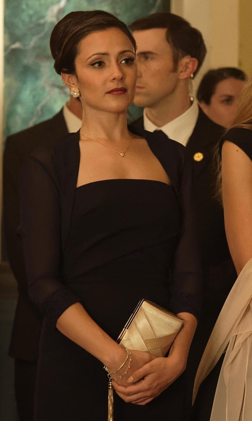 Italia Ricci with Nicholas Front Wrap Dress in Designated Survivor