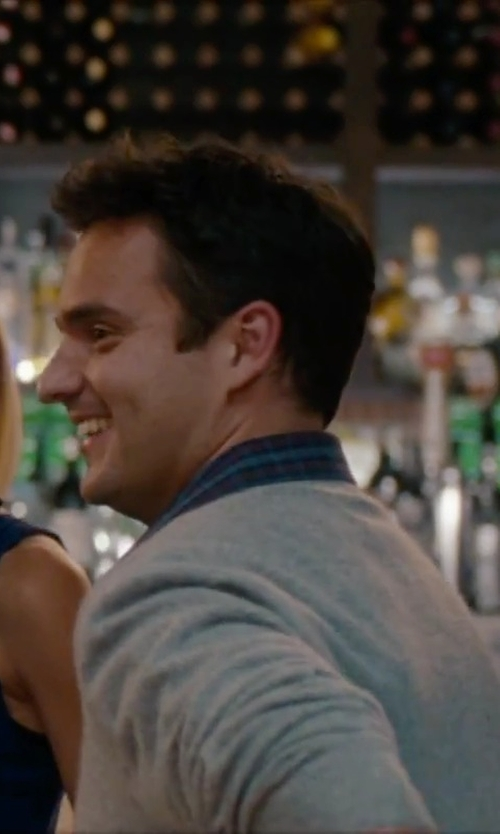 Jake Johnson with Polo Ralph Lauren Custom-Fit Plaid Sport Shirt in No Strings Attached