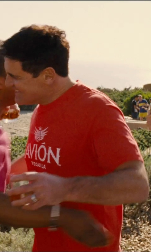 Mark Cuban with Alstyle Apparel Avion Tequila Logo T Shirt in Entourage