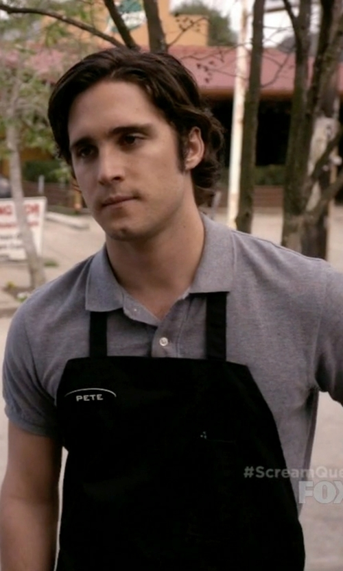 "Diego Boneta with Uncommon Threads ""Adjustable Bib"" Apron in Scream Queens"
