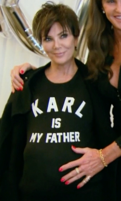 Kris Jenner with Eleven Paris Farl W T-Shirt in Keeping Up With The Kardashians