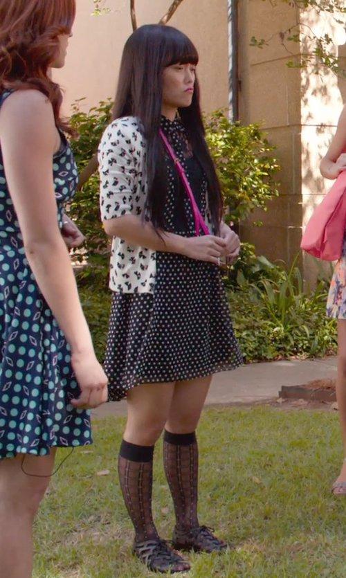 Hana Mae Lee with Vince Camuto 'Geo Diamonds' Knee High Socks in Pitch Perfect 2