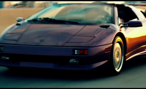 Mark Wahlberg with Lamborghini 1995 Diablo VT Roadster in Pain & Gain
