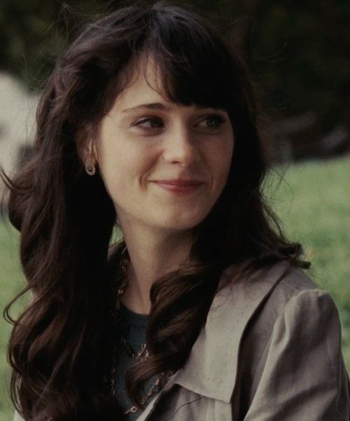 Zooey Deschanel with Collection Ellen Tracy Trench Coat in (500) Days of Summer