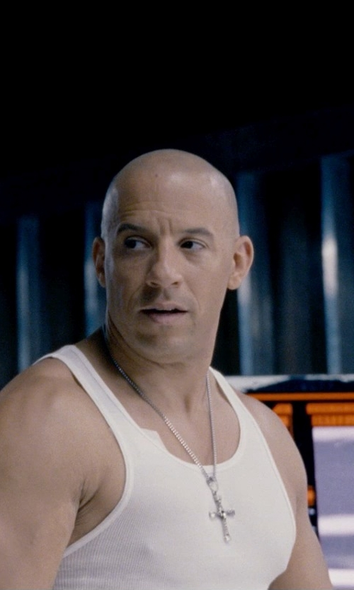 Vin Diesel with David Yurman Chevron Cross Necklace in Fast & Furious 6