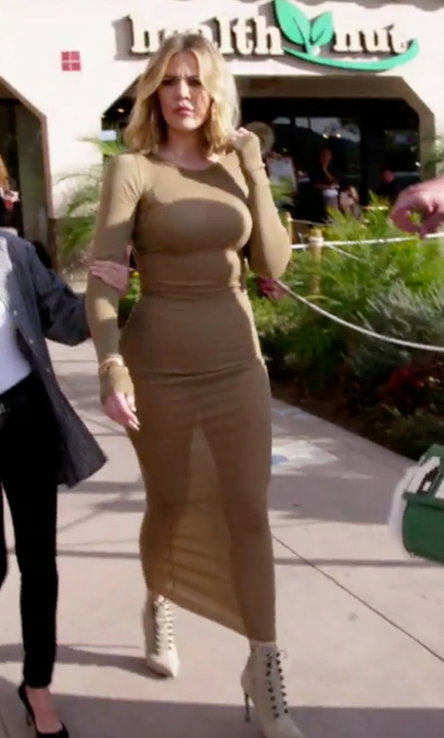 Khloe Kardashian with Balenciaga Studded Side-Zip Ankle Booties in Keeping Up With The Kardashians
