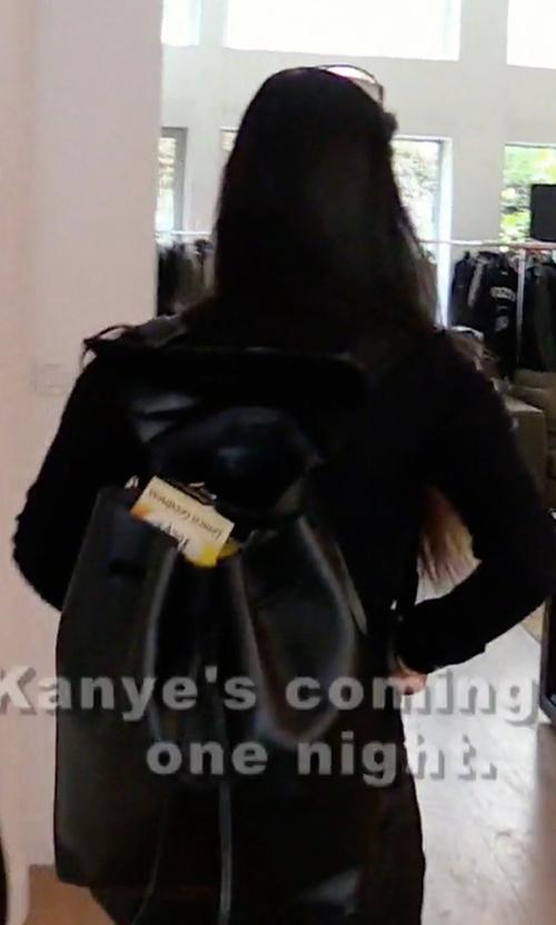 Kourtney Kardashian with Mansur Gavriel Leather Backpack in Keeping Up With The Kardashians