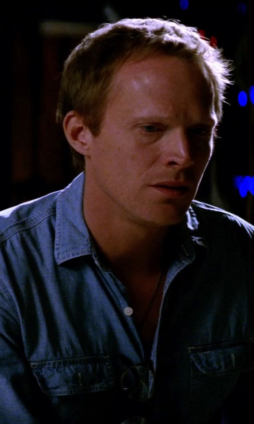 "Paul Bettany with True Religion JAKE ""ORIGINALS"" WESTERN MENS DENIM SHIRT in Transcendence"