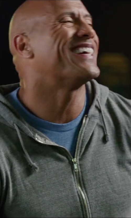 Dwayne Johnson with Michael Kors French Terry Zip Hoodie in Central Intelligence