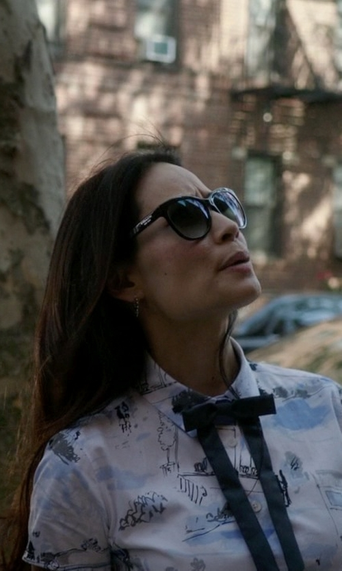 Lucy Liu with Victoria Beckham The VB Sunglasses in Elementary