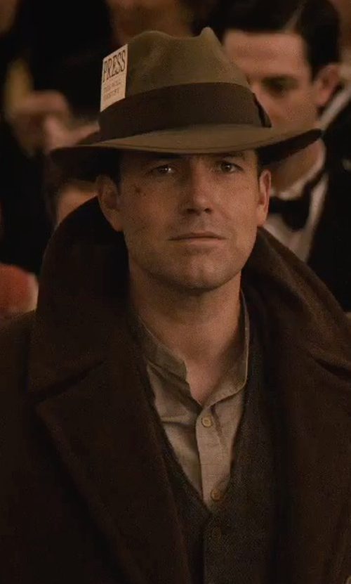 Ben Affleck with Brixton 'Messer' Wool Fedora Hat in Live By Night