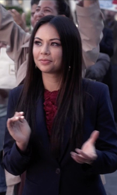 Janel Parrish with J.Crew Italian Stretch Wool Campbell Blazer in Pretty Little Liars