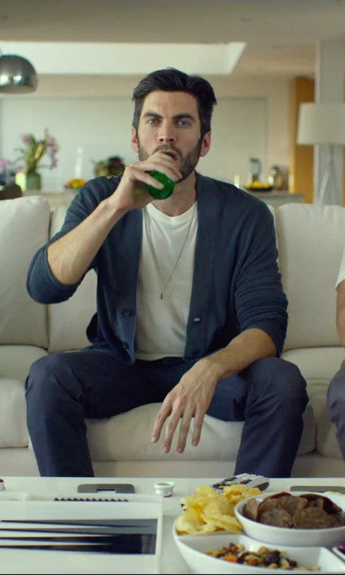 Wes Bentley with Burberry Slim Fit Cotton Poplin Chino Pants in We Are Your Friends