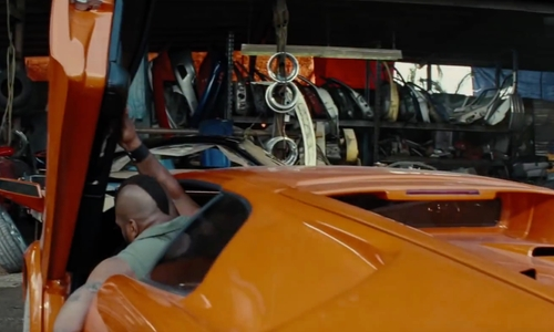 Quinton 'Rampage' Jackson with Lamborghini 2000 Diablo VT 6.0 Sports Car in The A-Team
