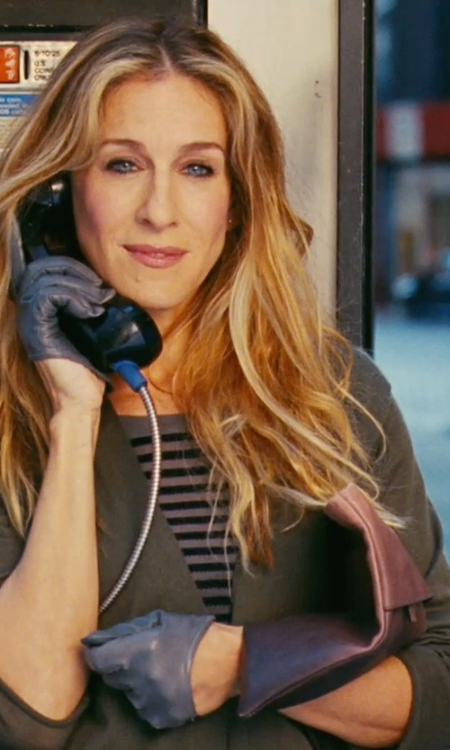 Sarah Jessica Parker with Enza Costa Striped T-Shirt in Sex and the City