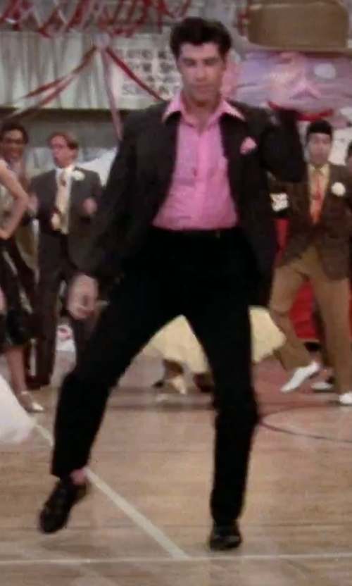 John Travolta with Nordstrom Flat Front Cotton Pants in Grease