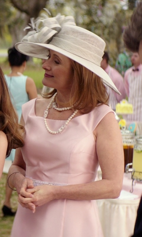 Caroline Goodall with Radiance Pearls White Japanese Akoya Cultured Pearl Necklace in The Best of Me