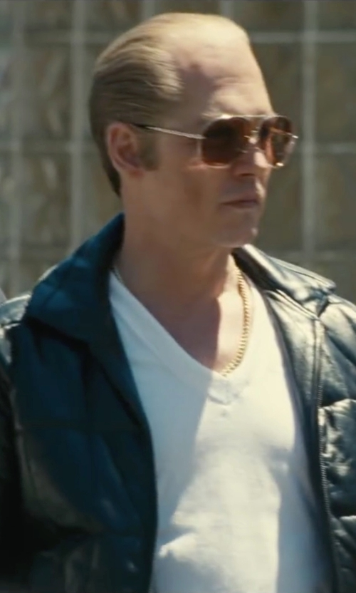 Johnny Depp with Burberry Brit Townsend Quilted Jacket in Black Mass