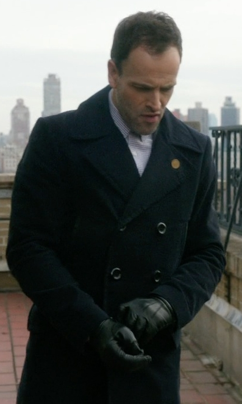 Jonny Lee Miller with Barneys New York Fur-Lined Gloves in Elementary