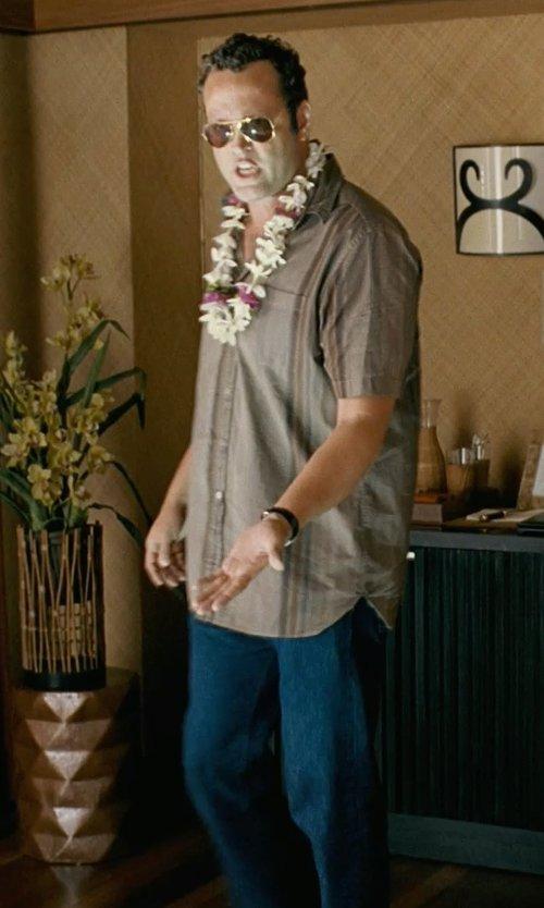 Vince Vaughn with Dirk Bikkembergs Denim Pants in Couple's Retreat