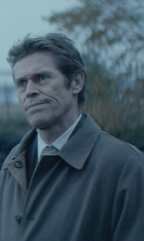 Willem Dafoe with Lauren Ralph Lauren Solid Wool-Blend Overcoat in John Wick
