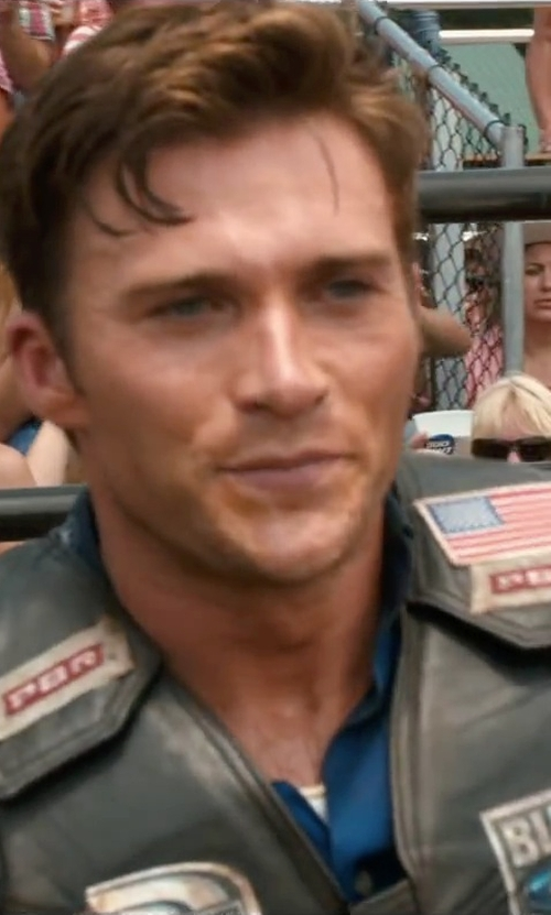 Scott Eastwood with Saddle Barn Faux Leather Bull Riding Vest in The Longest Ride