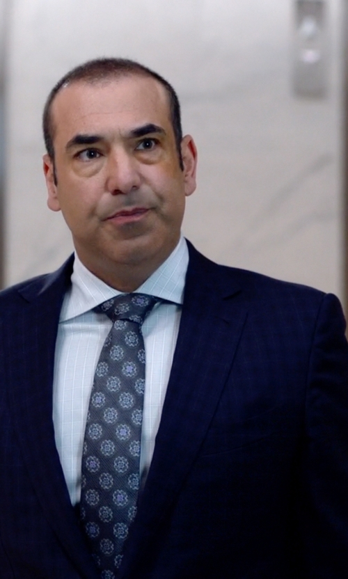 Rick Hoffman with Canali Two-Piece Check Suit in Suits
