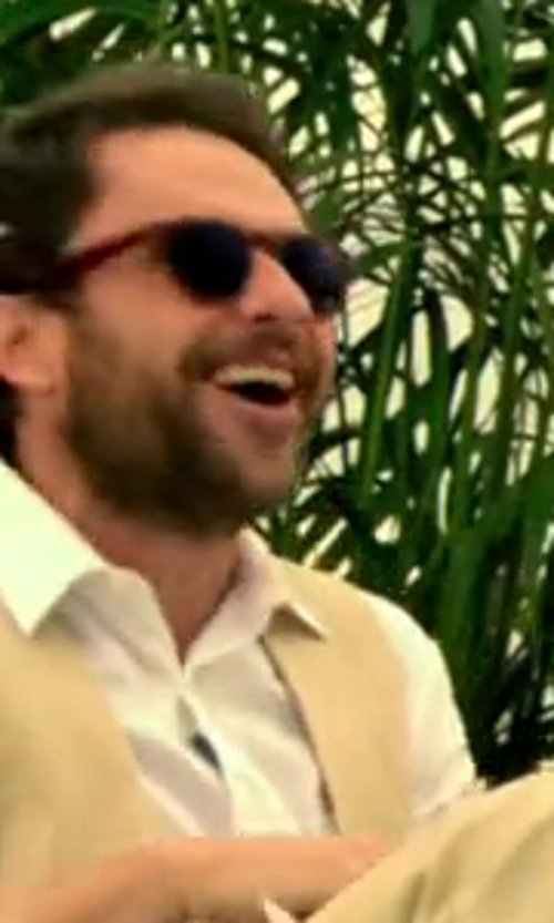 Charlie Day with Ray-Ban Polarized Square Sunglasses in Horrible Bosses 2